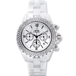 White Ceramic Couture Watch with CZ's. Visit www.stuller.com/l... to find your nearest retailer.