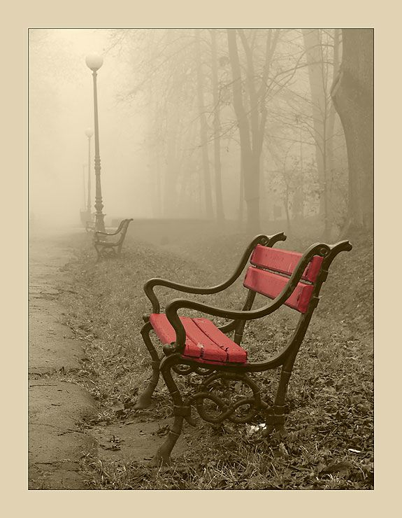 By: Jarek Grudzinski, Red bench