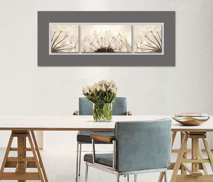 Cuadro de cristal 50 x 125 cm TOP LABEL DIENTE LEON