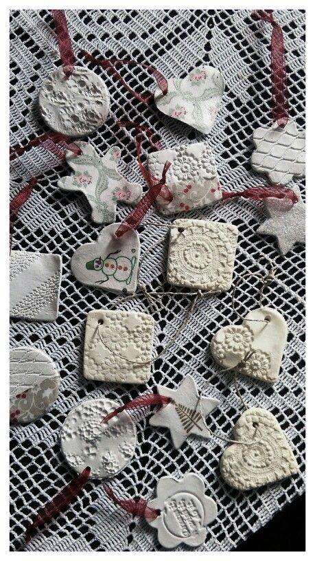 Diy christmas ornaments, soda clay