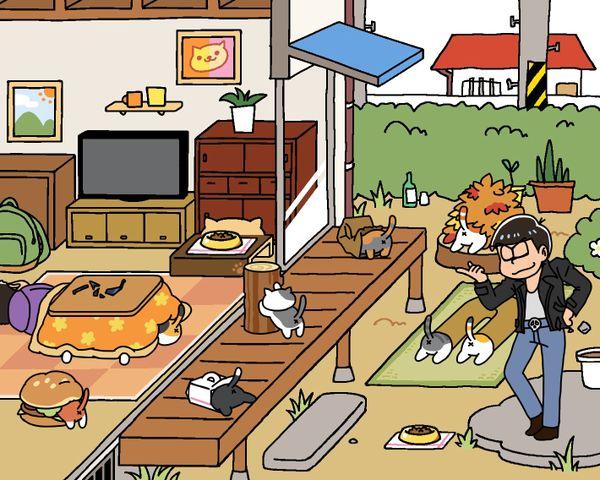 おそ松さん Osomatsu-san ねこあつめ やっと来たかい?カラ松Cats…