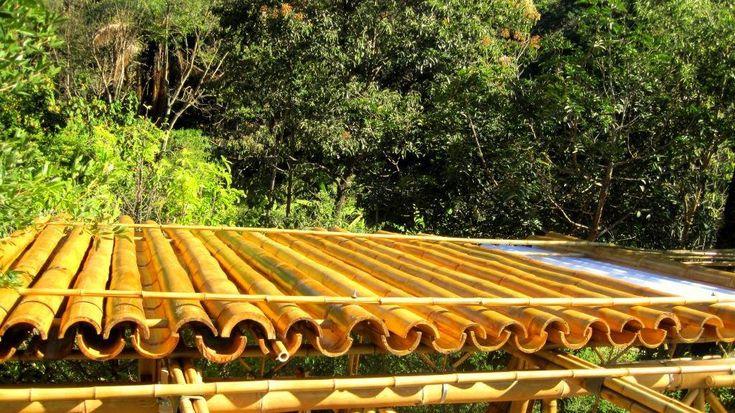 Bamboo roof - Cerbambu Ravena   http://www.bamcrus.com.br