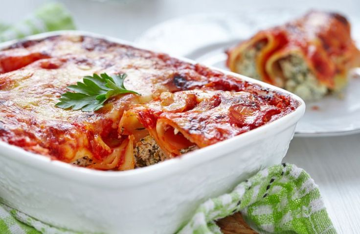 Cannelloni met kip & spinazie
