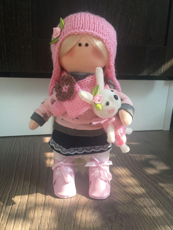 Купить Кукла текстильная Полли - кукла ручной работы, текстильная кукла, интерьерная кукла, тильда