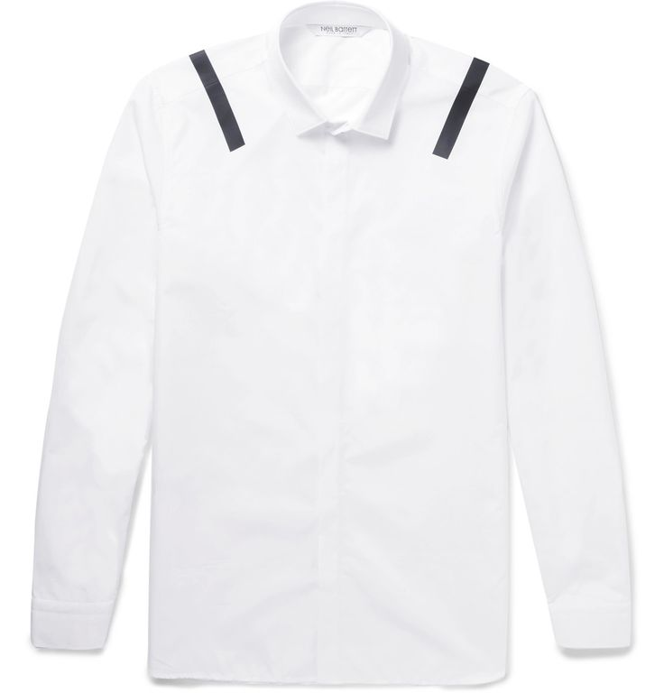 Neil Barrett - Vinyl-Trimmed Cotton Shirt