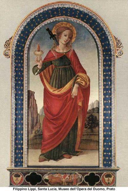 Arte e Religião: 13 de Dezembro - Santa Luzia (Virgem e mártir)