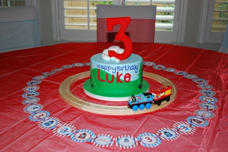 Cake Decorations Montgomery Al : Luke s Thomas the Train Birthday Cake from Cinderella ...