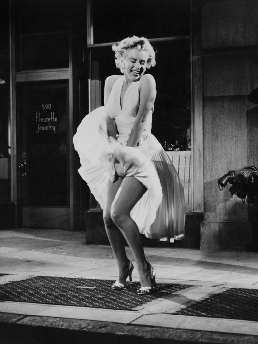 Marilyn Monroe's iconic dress from The Seven Year Itch is ranked by Good Housekeeping as one of the 100 most memorable gowns of all time.