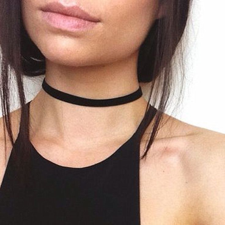 N926 Gothic Women Chokers Necklaces Black Ribbon Short Collares Fashion Jewelry 80's 90's Bijoux Clavicle Necklace 2016 NEW