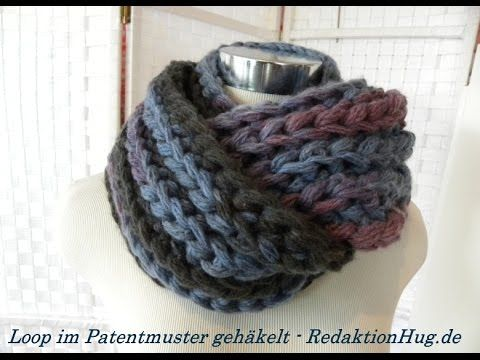 Crochet - Cowl - Veronika Hug (In GERMAN, but great video to learn pattern... Adjust the pattern to make other projects, i.e., shawl, throw, etc... I love the yarn being used... Deb)