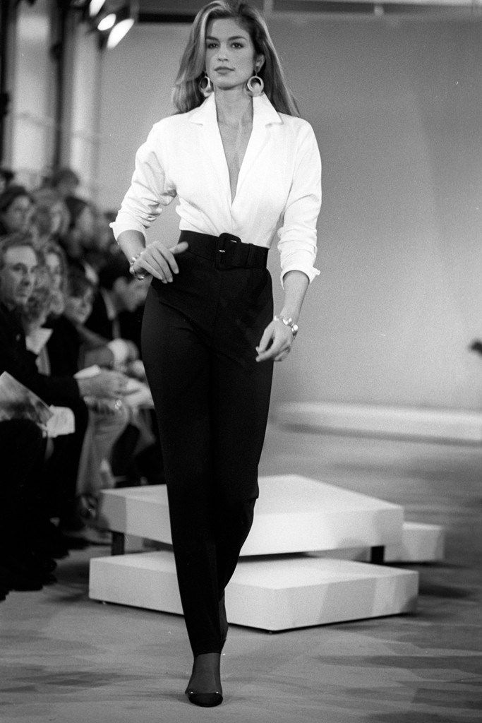 Donna Karan RTW Spring 1992.  As Donna Karan steps down as chief designer of Donna Karan International, we took a look back at the last 30 years of her career and influence on the industry. [Photo: WWD Archive]