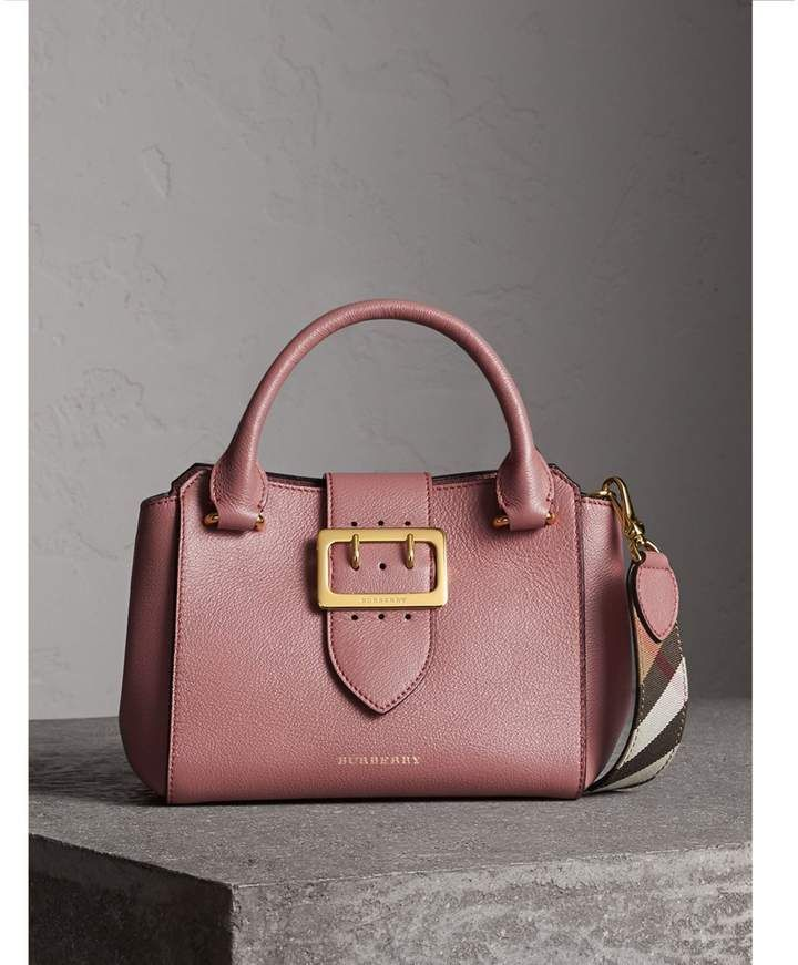 49cc4d56447 Burberry The Small Buckle Tote in Grainy Leather Dusty Pink #aff ...