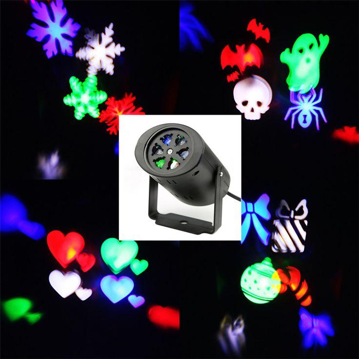 防水移動雪レーザープロジェクターランプスノーフレークledステージライト用クリスマスパーティー風景ライトガーデンランプ屋外
