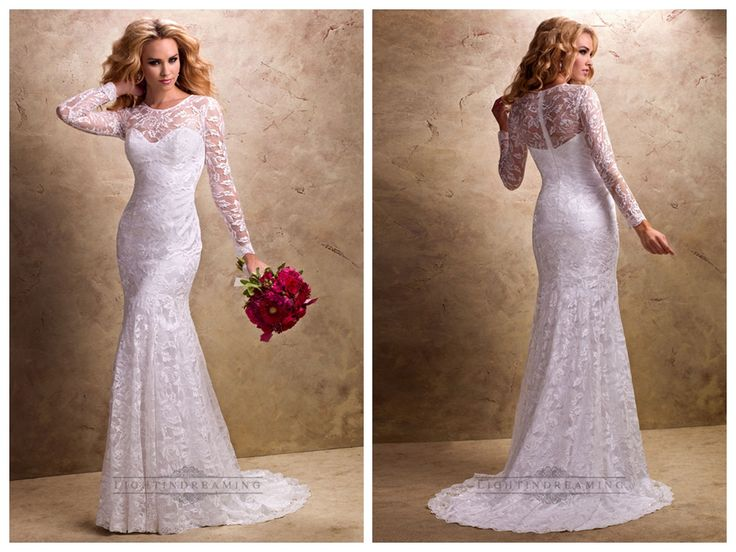 Fit and Flare Long Sleeves Sheer Wedding Dresses with Sweetheart   Neckline http://www.ckdress.com/fit-and-flare-long-sleeves-sheer-wedding-  dresses-with-sweetheart-neckline-p-167.html #wedding #dresses #dress #lightindream #lightindreaming #wed #clothing   #gown #weddingdresses #dressesonline #dressonline #bride