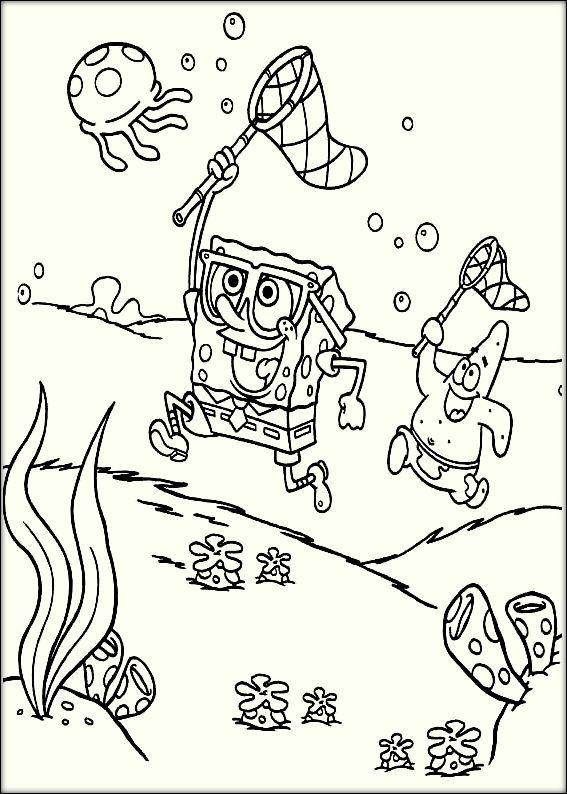 Spongebob Characters Coloring Pages | estilo art | Pinterest ...