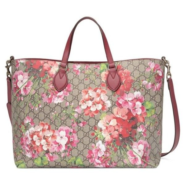 Women's Gucci Soft Gg Blooms Tote ($1,350) ❤ liked on Polyvore featuring bags, handbags, tote bags, bolsos, gucci, canvas tote bags, gucci tote, gucci handbags, top handle handbags and gucci tote bag