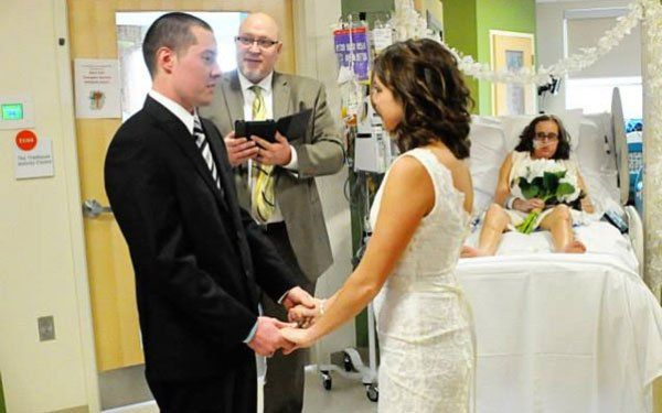 """For the first time, Riley Hospital hosted a wedding that included a very special maid of honor.  23-year-old Danielle Jones knew she wanted her sister Gabby to be a part of her wedding one day. Gabby has been fighting blood cancer at Riley Hospital.  Everyone said, 'Who would want to get married in a hospital,' and I said, 'Who wouldn't want to have their sister there?' She was there, it was perfect and I wouldn't have had it any other way,"""" Danielle said."""