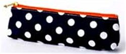 Κασετίνα Mark΄sphere dot MS Σε μπλέ σκούρο χρώμα δύο όψεων πουά και ριγέ Υλικό: Βαμβάκι (EVA-επικάλυψη), νάιλον, μέταλλο