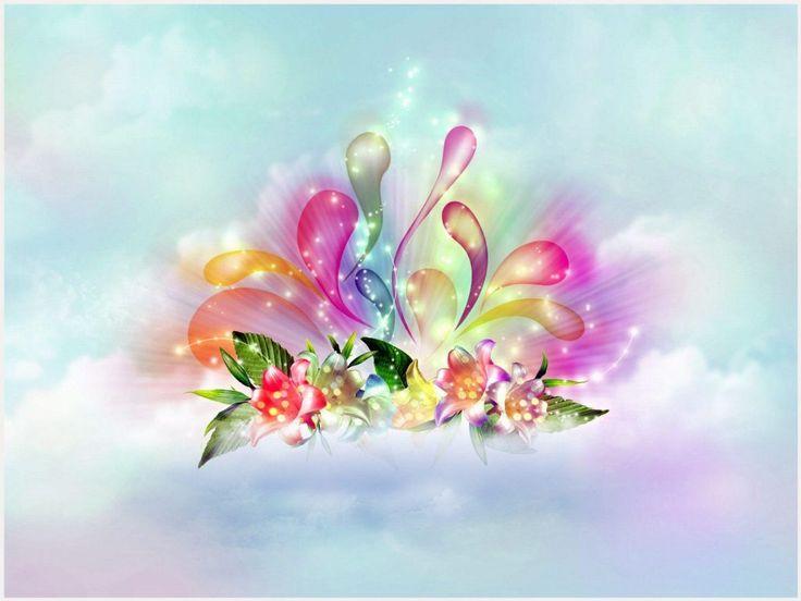 3D Flower Abstract Wallpaper | 3d abstract flower wallpaper