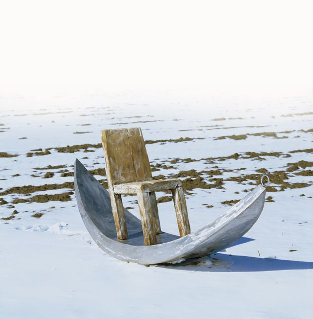 For those who love extraordinary furniture. Amazing raw rocking chair made of Stainless steel, wood, imagination – a unique product by PAWELgrunert via en.DaWanda.com