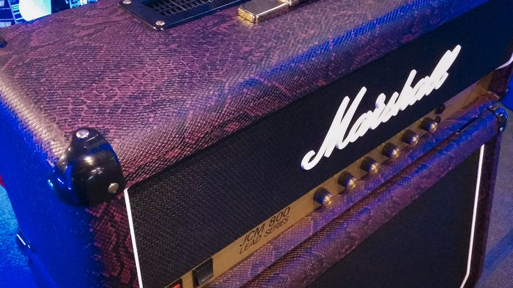 Marshall JCM800 and 1960A in Snakeskin Burgundy #marshall #marshallamp #marshallamplification #amplifier #marshallhead #marshallcab #amplifier #guitaramp #guitaramplifier #megamusic #megamusicmyaree