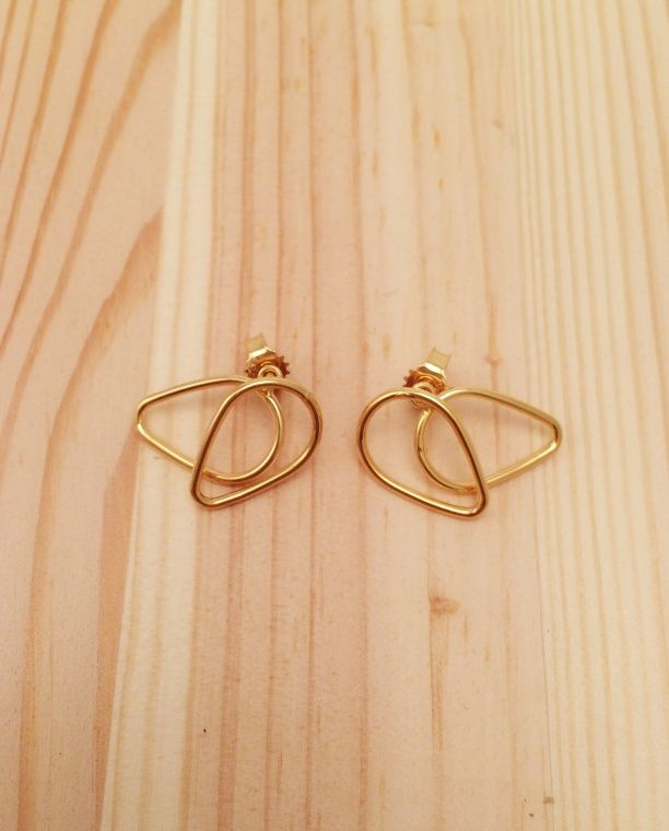 Doodles earring gold plated silver // KYST