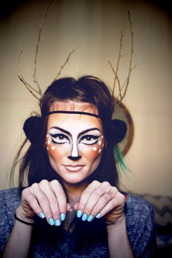 25 deer halloween makeup ideas for women - Fun Makeup Ideas For Halloween