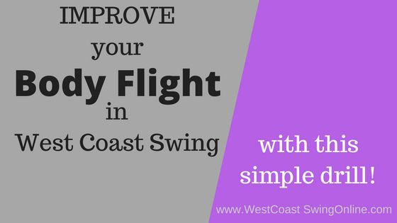 Want to look smooth in your steps in West Coast Swing?  check out this drill!  #WestCoastSwing #WCS #Dance