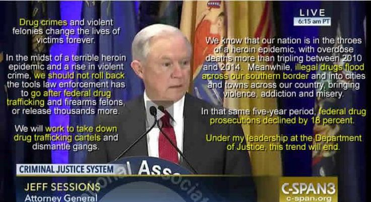 The transcript of remarks by Attorney General Sessions to the state Attorneys General has been posted. It contains a few more quotes I missed in the first reporting of the speech. Mr. Sessions acknowledges that crime rates are near historic lows: Overall, crime rates in the United States remain...