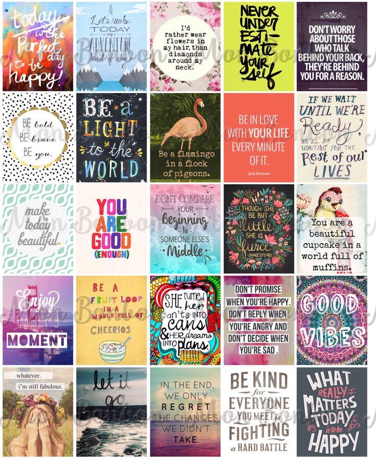 Motivational Life Planner Sticker Sheet Printable - Hipster Inspirational Printable Sheet - Journal Stickers - fits Erin Condren Planner by monbonbon on Etsy https://www.etsy.com/listing/246625965/motivational-life-planner-sticker-sheet