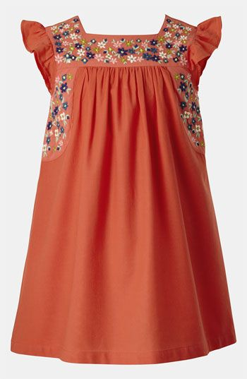 Mni Boden Embroidered Toddler Dress