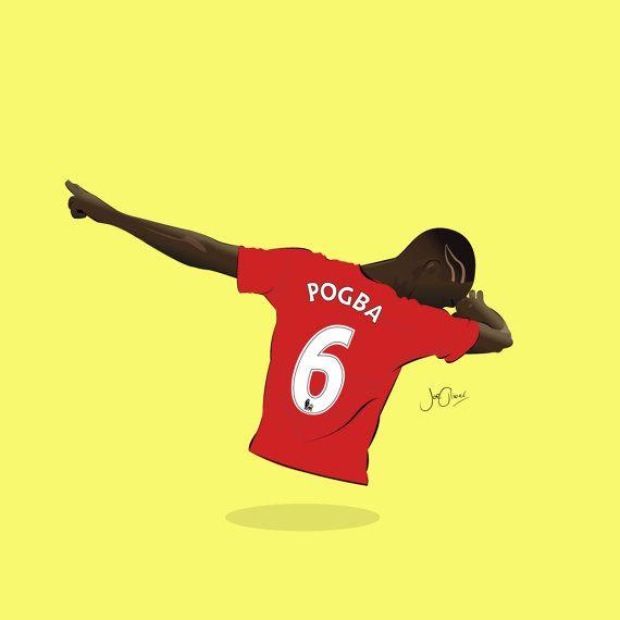 Paul Pogba Dab ilustrado imprimir cartel  A6 A5 A4 A3