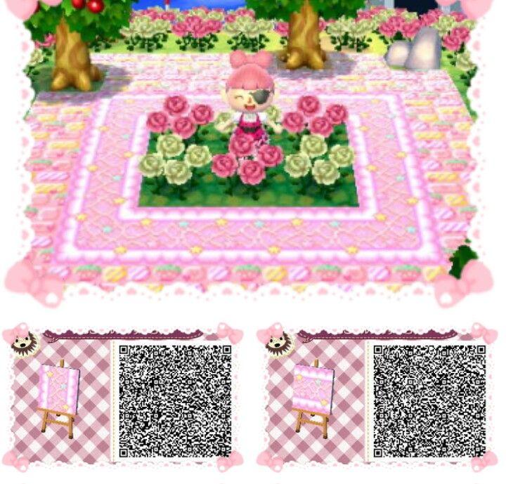 Animal Crossing New Leaf \u0026 HHD QR Code Paths Star crossed Pastel boarder