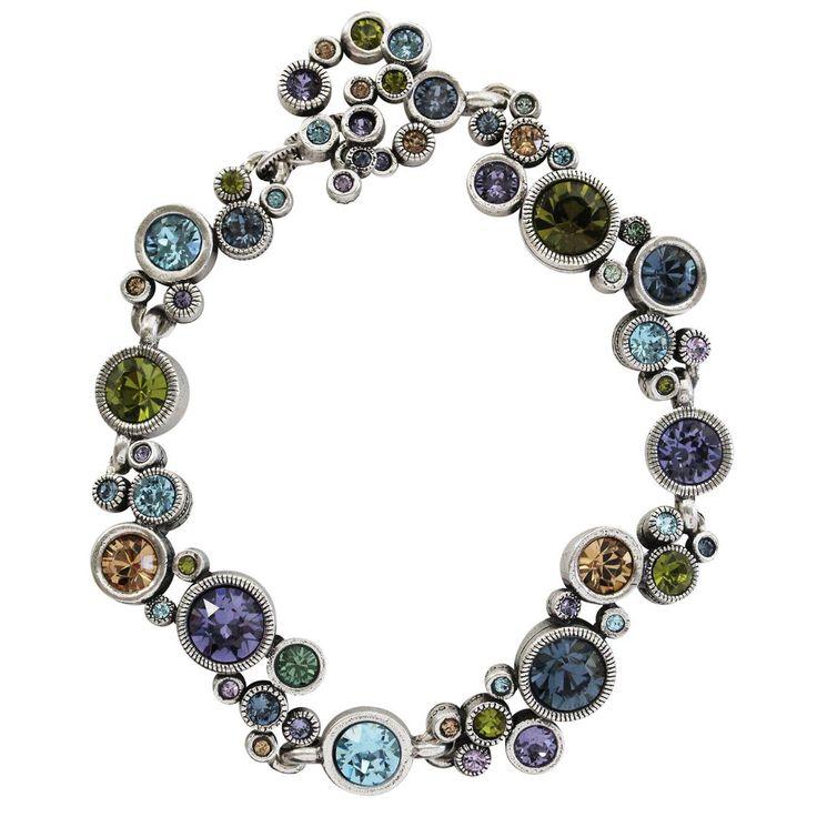 "Patricia Locke ""Ovation"" Sterling Silver Plated Bracelet, 7.25"" Tranquility BR0336S"