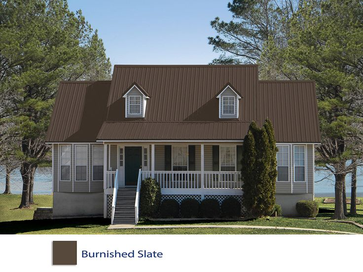 Burnished Slate Metal Roof Access Denied Metal Sales