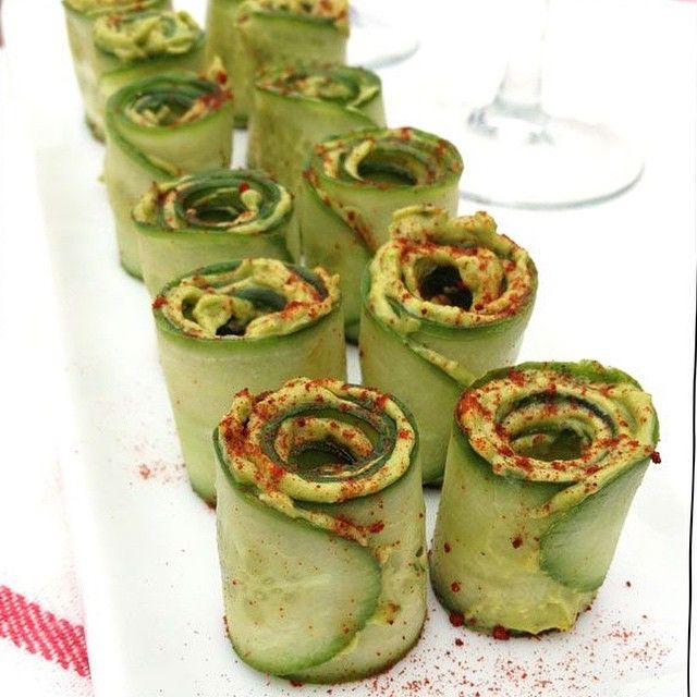 Cucumber avocado rolls #pristinehealth #eathealthy