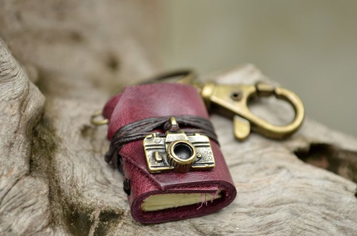 Miniature Book keychain Camera & Purple grapes color by fullmoonn, $5.50
