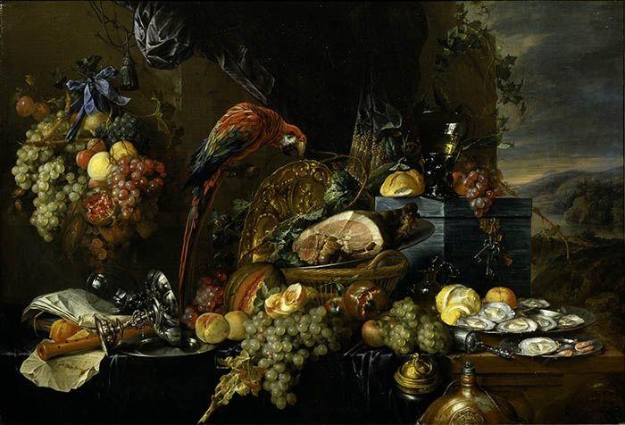 "Jan Davidsz. de Heem, ""Pronkstilleven"" / Nature morte ostentatoire, vers 1655. Akademie der bildenden Künste Wien."