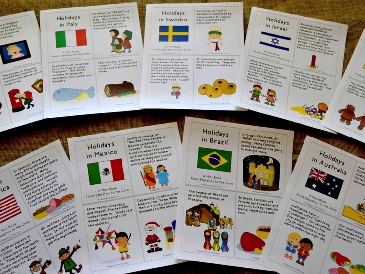 Education to the Core: Christmas Around the World / Holidays around the World Printable Unit. Close Read for Each Country including England, Australia, Italy, Germany, Mexico, Brazil, Israel, Sweden, and The United States Plus FREE Christmas in America Mini-Book and writing reflection at the end!