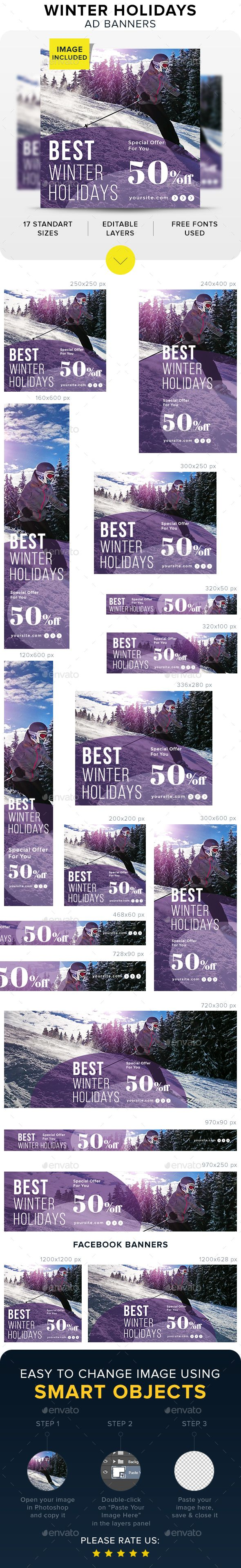 Winter Holidays Banners - Banners & Ads Web Elements Download here : https://graphicriver.net/item/winter-holidays-banners/19297706?s_rank=33&ref=Al-fatih