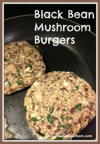 Black Bean Mushroom Burgers {A Vegan Treat}