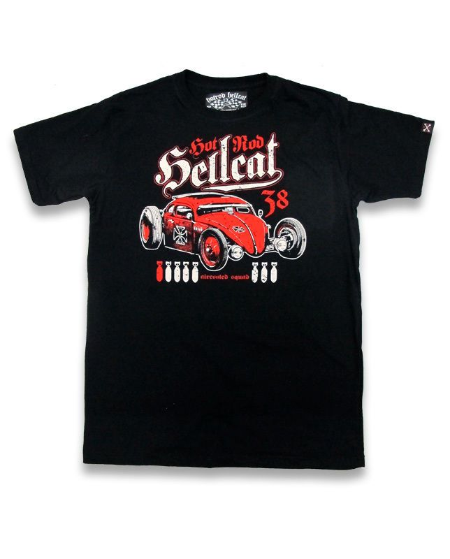 Hotrod Hellcat Herren AIRCOOLED T-Shirts.Tattoo,Biker,Oldschool,Custom Style