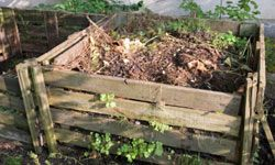Both the wood frame and the stuffing of the mattress can be used to create a compost pile.