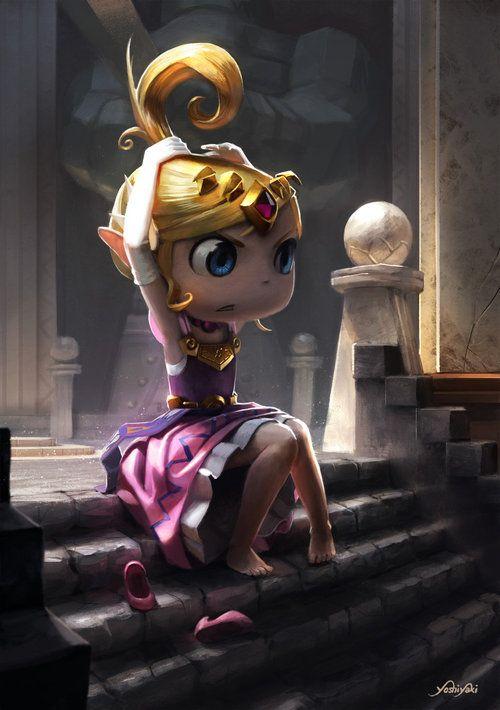 Princess Zelda | Wind Waker by Cassio Yoshiyaki