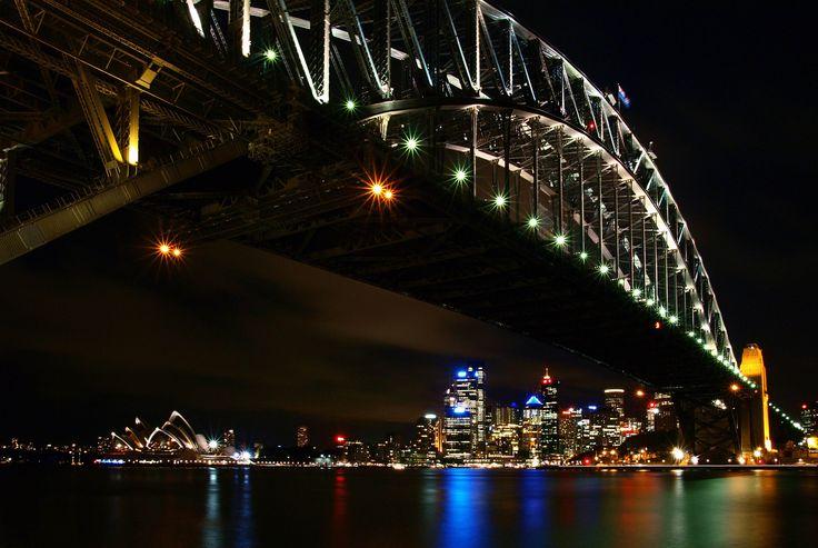 Sydney Harbour Bridge, Opera house and City Skyline