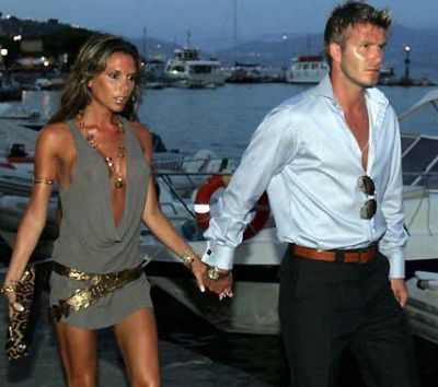 David Beckham... he is so hot! So is she!