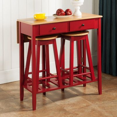 InRoom Designs 3 Piece Pub Table Set & Reviews | Wayfair