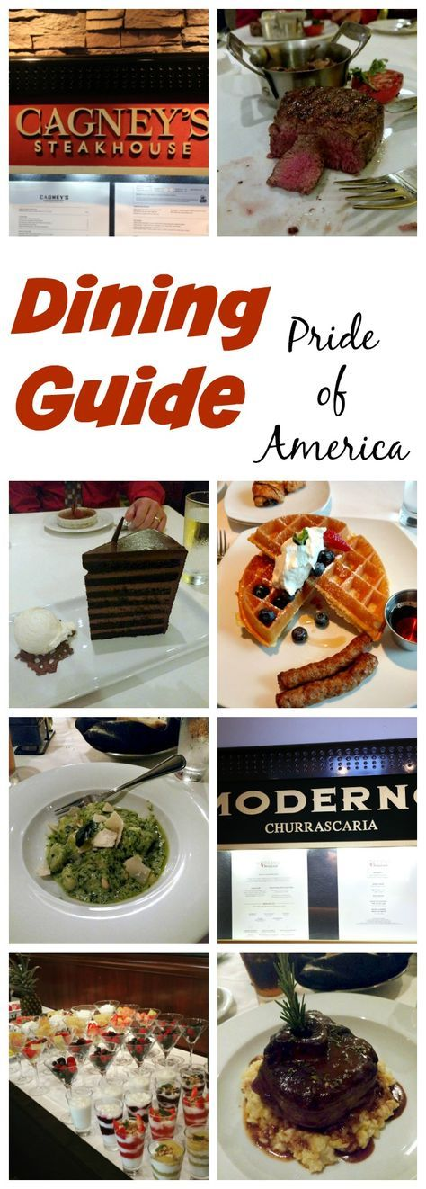 Dining Guide for the Pride of America – want to know where to eat when sailing on Norwegian's Pride of America in Hawaii.
