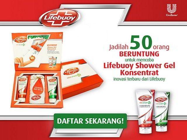 sample gratis produk lifebuoy shower gel konsentrat