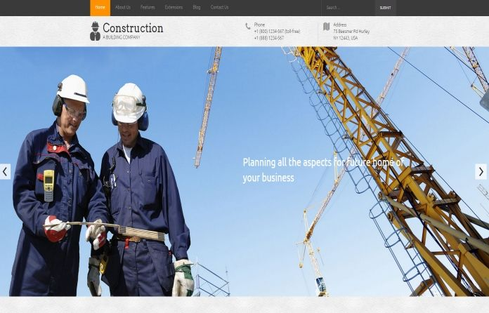 Hot Construction - #Joomla #template dedicated for the #construction companies, #builders and the #industry of civil engineering in general.